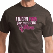 Pink For My Hero Mens Breast Cancer Awareness Shirts