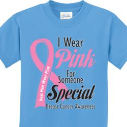 Pink For Someone Special Kids Shirts