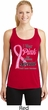 Pink For Someone Special Ladies Dry Wicking Racerback Tank Top