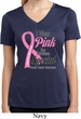 Pink For Someone Special Ladies Moisture Wicking V-neck Shirt