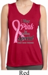 Pink For Someone Special Ladies Sleeveless Moisture Wicking Shirt