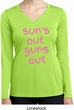 Pink Suns Out Guns Out Ladies Dry Wicking Long Sleeve Shirt