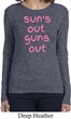 Pink Suns Out Guns Out Ladies Long Sleeve Shirt