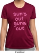 Pink Suns Out Guns Out Ladies Moisture Wicking Shirt