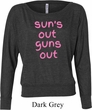 Pink Suns Out Guns Out Ladies Off Shoulder Shirt