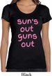 Pink Suns Out Guns Out Ladies Scoop Neck Shirt