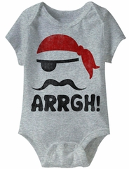 Pirate Arrgh! Funny Baby Romper Athletic Heather Infant Babies Creeper