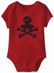 Pirate Funny Baby Romper Red Infant Babies Creeper