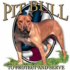 Pit Bull T-shirt - To Protect and Serve Dog Adult Tee Shirt