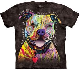 Beware of Pitbulls Tie Dye T-shirt