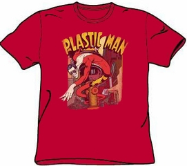Plastic Man T-shirt - DC Comics Plastic Man Street Adult Red Tee