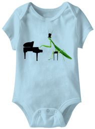 Playin Mantis Funny Baby Romper Light Blue Infant Babies Creeper