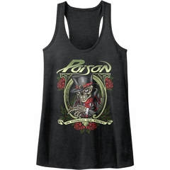 Poison Juniors Tank Top In Poison We Trust Heather Black Racerback