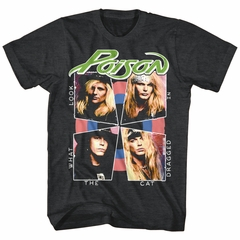 Poison Shirt Look What The Cat Dragged In Heather Black T-Shirt