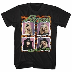 Poison Shirt Talk Dirty To Me Black T-Shirt