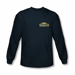 Polar Express Shirt Conductor Long Sleeve Navy Blue Tee T-Shirt