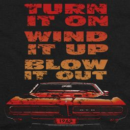 Pontiac Blow It Out GTO Shirts