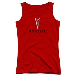 Pontiac Juniors Tank Top Modern Logo Red Tanktop