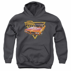 Pontiac Kids Hoodie Judged Charcoal Youth Hoody