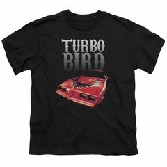 Pontiac Kids Shirt Turbo Bird Black T-Shirt