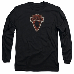 Pontiac Long Sleeve Shirt Arrow Head Black Tee T-Shirt
