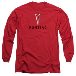 Pontiac Long Sleeve Shirt Modern Logo Red Tee T-Shirt