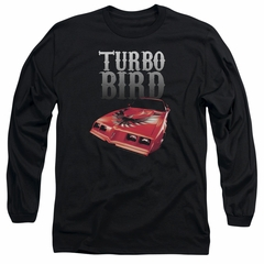 Pontiac Long Sleeve Shirt Turbo Bird Black Tee T-Shirt
