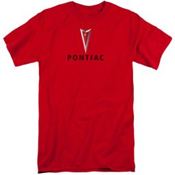 Pontiac Shirt Modern Logo Red Tall T-Shirt
