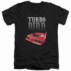 Pontiac Slim Fit V-Neck Shirt Turbo Bird Black T-Shirt