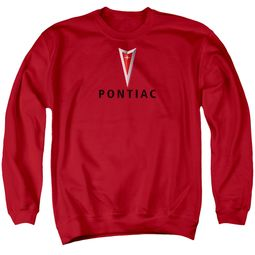 Pontiac Sweatshirt Modern Logo Adult Red Sweat Shirt