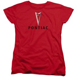 Pontiac Womens Shirt Modern Logo Red T-Shirt