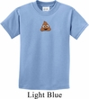 Poop Emoji Patch Middle Print Kids Shirt