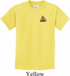 Poop Emoji Patch Pocket Print Kids Shirt