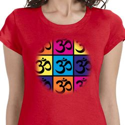 Pop Art Om Ladies Yoga Shirts