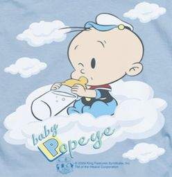 Popeye Baby Clouds Shirts