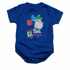 Popeye Baby Romper ABC Royal Blue Infant Babies Creeper