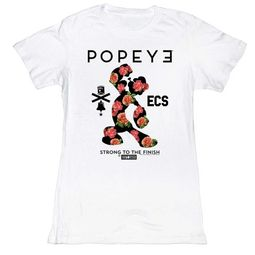 Popeye Juniors Shirt Roses White T-Shirt