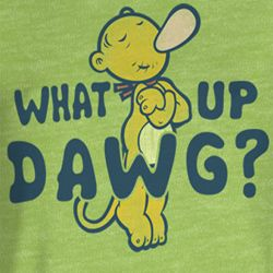 Popeye Juniors Shirt Watup Dawg Heather T-Shirt Tee