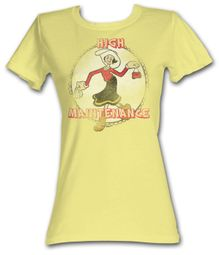 Popeye Juniors T shirt Olive Oyl High Maintenance Banana Tee Shirt