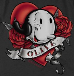 Popeye Olive Tattoo Shirts