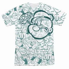 Popeye Repeat Sailor Sublimation Shirt