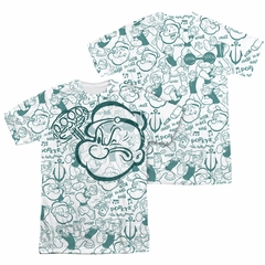 Popeye Repeat Sailor Sublimation Shirt Front/Back Print