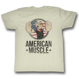 Popeye Shirt American Muscle Off White T-Shirt