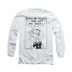 Popeye Shirt An Idea Long Sleeve White Tee T-Shirt