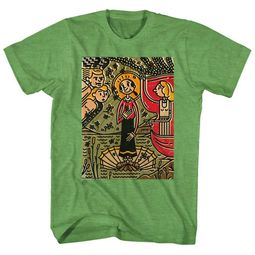 Popeye Shirt Ancient Art Heather Green T-Shirt