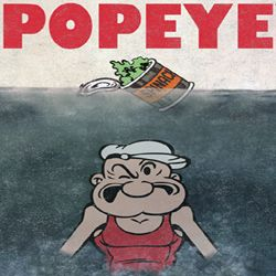 Popeye Shirt Beware of Popeye Adult Heather Grey T-Shirt Tee