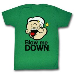 Popeye Shirt Blow Me Down Kelly Green T-Shirt