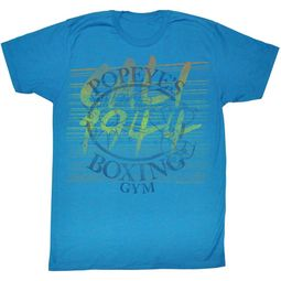 Popeye Shirt Boxing Gym Teal T-Shirt