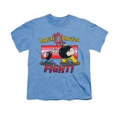 Popeye Shirt Fight Kids Carolina Blue Youth Tee T-Shirt