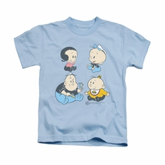 Popeye Shirt Four Friends Kids Light Blue Youth Tee T-Shirt